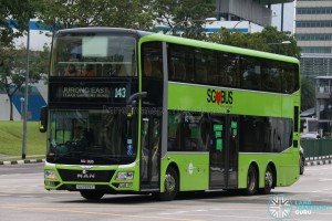 Tower Transit MAN Lion's City DD L - Service 143 (SG5999Z)
