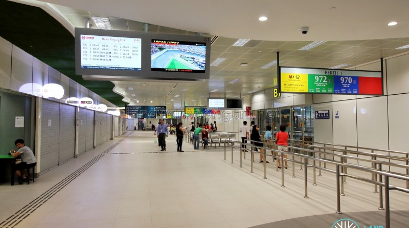 Bukit Panjang Bus Interchange - Boarding berths
