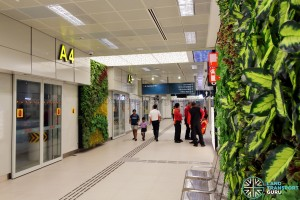 Bukit Panjang Bus Interchange - Green wall