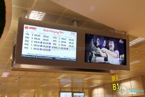 Bukit Panjang Bus Interchange - Departure Timings screen