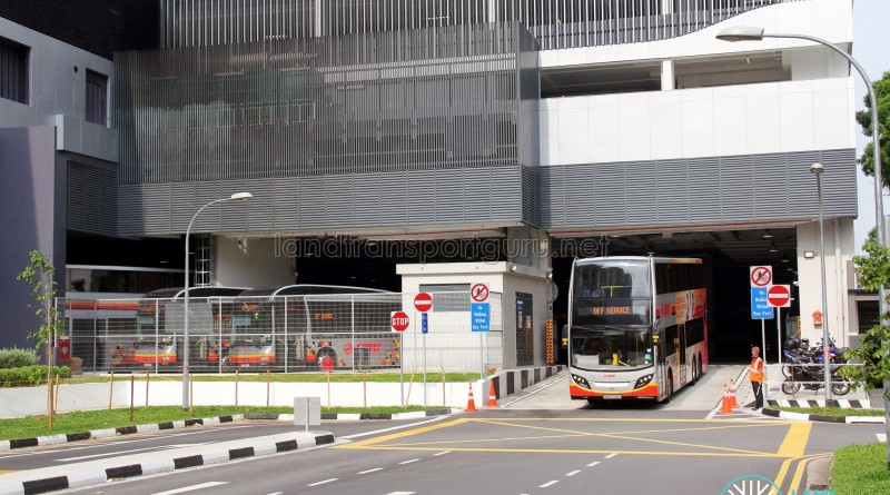 Bukit Panjang Bus Interchange - Egress lane
