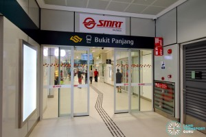 Bukit Panjang Bus Interchange - Petir Road entrance, leading to Bukit Panjang LRT station