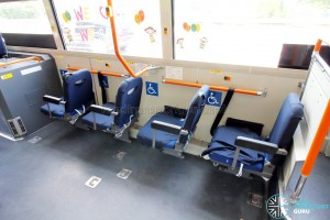Hino Blue Ribbon City Hybrid - Foldable seats (deployed)