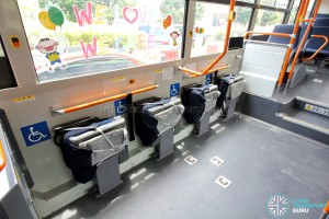 Hino Blue Ribbon City Hybrid - Wheelchair Bay