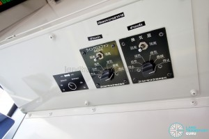 Hino Blue Ribbon City Hybrid - Air conditioner controls