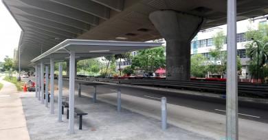 Kaki Bukit Avenue 3: New Bus Stops under construction