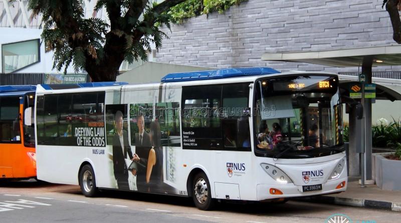 ComfortDelgro Bus Volvo B9L (PC3983M) - NUS ISB Route BTC1