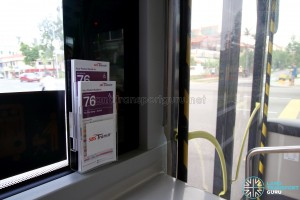 SBS Transit MAN A95 ND323F (SG5835M) - Service Guide rack