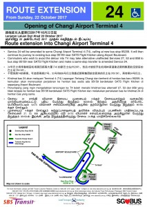 Service 24 route extension to Terminal 4 Poster