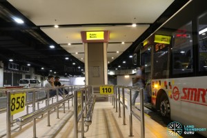 Bus Service 110 - Berth at Changi Airport PTB1