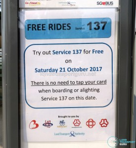 Free rides offered on the first day of Service 137's operations