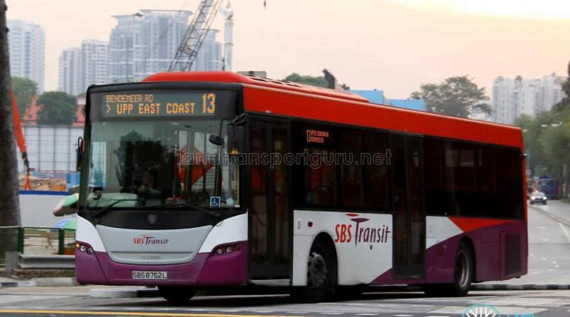 SBST Scania K230UB (SBS8752L) - Service 13