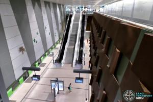 Bedok North MRT Station - Overhead view of platforms
