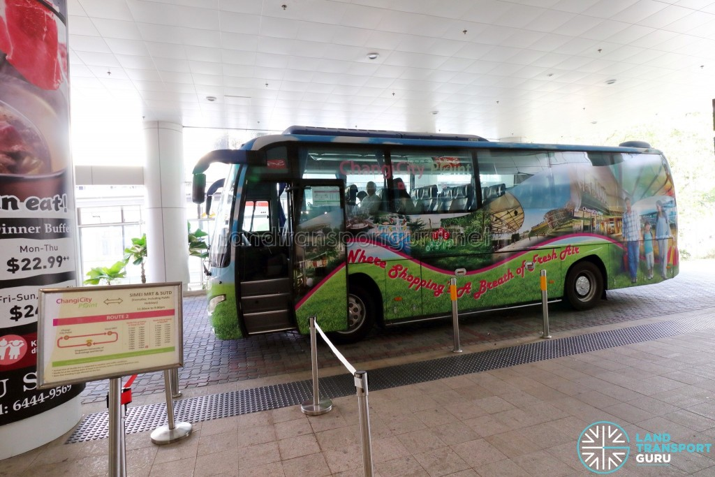 Changi City Point Shuttle Bus Pickup Point