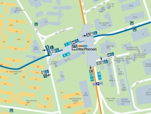 Map of MacPherson MRT Station