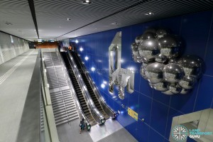 Expo MRT Station (DTL) - Unpaid area escalators