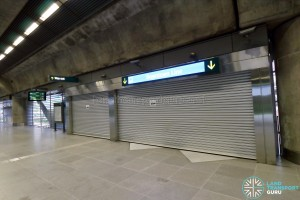 Expo MRT Station (EWL) - Paid link to DTL (unopened)