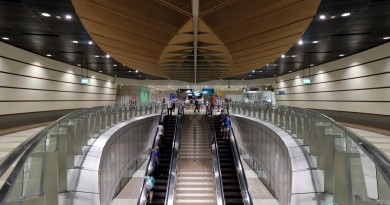 Geylang Bahru MRT Station - Escalators to Platform (B2)
