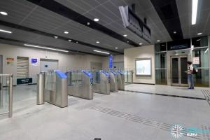 Jalan Besar MRT Station - Faregates at Underpass Level (B1) to direct platform level lift