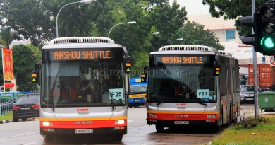 SMRT MAN NG363F A24 buses during the 2016 Singapore Airshow