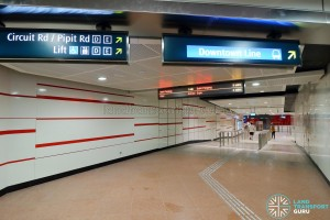 MacPherson MRT Station - Unpaid Link to Downtown Line Station