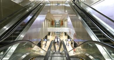 Mattar MRT Station - Escalators to Platform