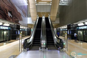 Mattar MRT Station - Escalators to Concourse