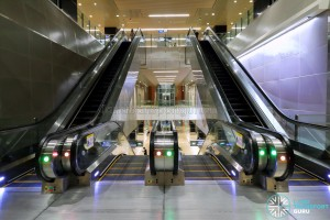Mattar MRT Station - Escalators to Concourse / Platform