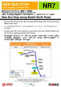 Additional bus stop for NR7 from 21 Oct 2017