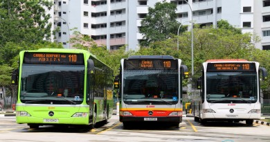Mercedes-Benz Citaro buses on Service 110 at Compassvale Interchange