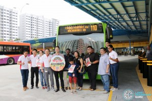 Service 110 Launch at Compassvale Bus Interchange