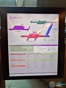 Information Board for Public Area Terminal 4 Shuttle