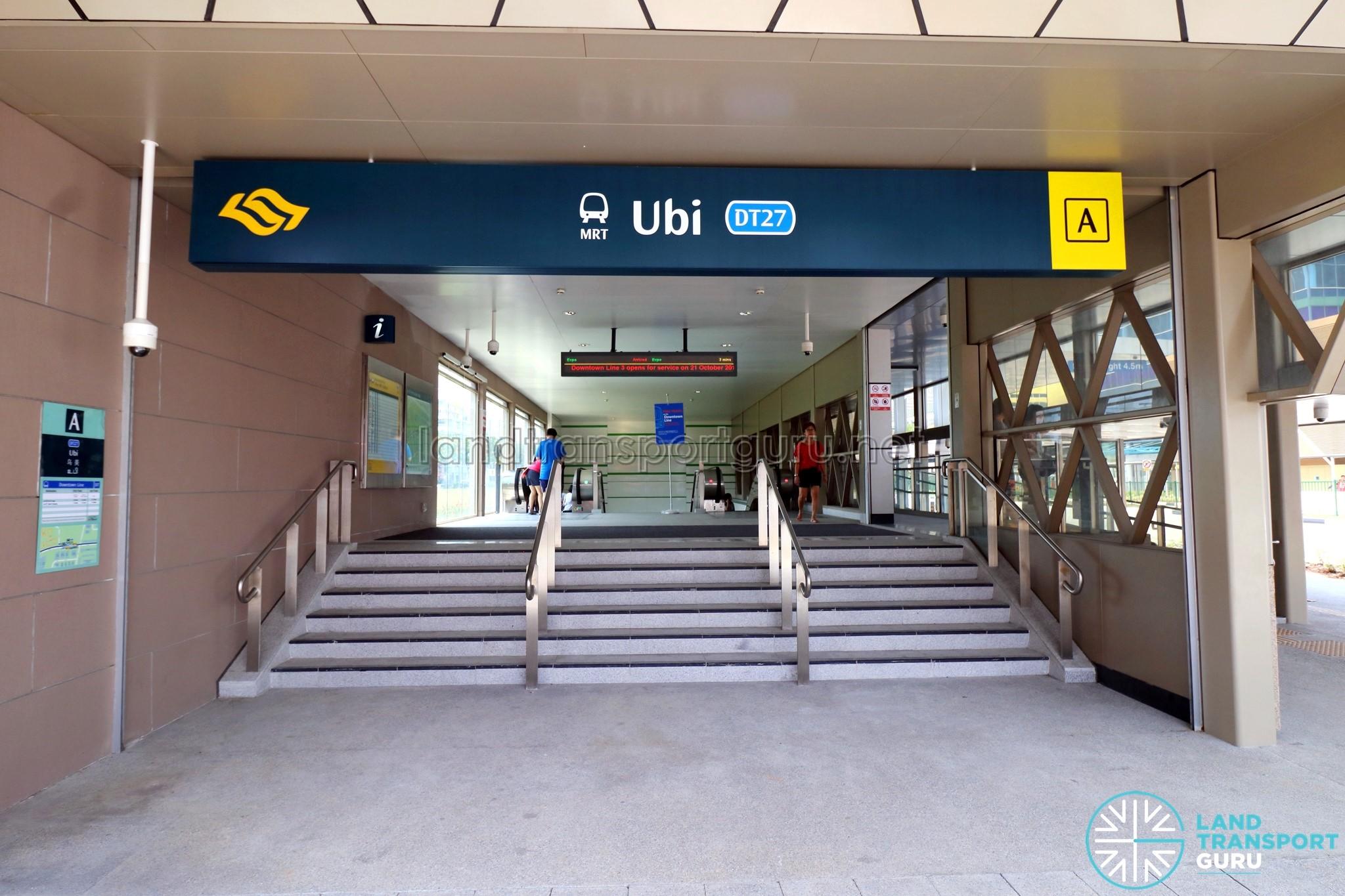 Ubi MRT Station Exit A