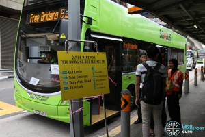 Tuas West Extension Bridging Bus at Joo Koon