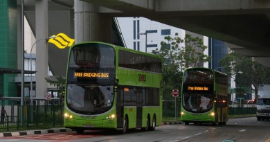 Tuas West Extension Bridging Buses at Tuas Link