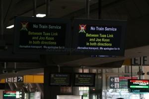 Tuas West Extension Suspension of Train Service (Nov 2017) - Screen