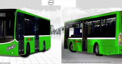 Volvo Hybrid Bus: Artists Impression
