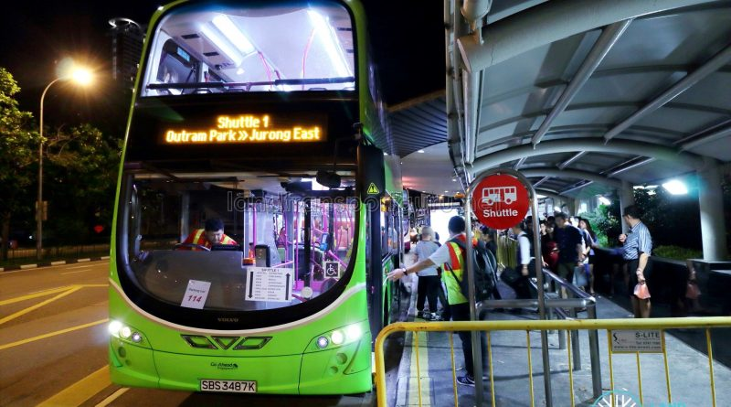 Go-Ahead Volvo B9TL Wright (SBS3487K) - Shuttle 1: Outram Park >> Jurong East
