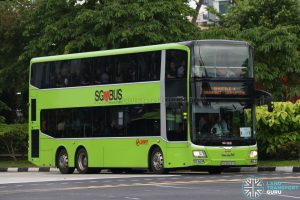 SMRT MAN Lion's City DD (SG5823Y) - Shuttle 4: Jurong East - Choa Chu Kang