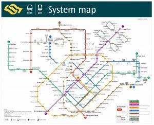 MRT Netowrk Map as of November 2017