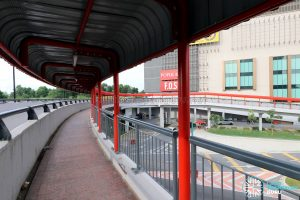 Paradigm Mall: Overhead bridge across Jalan Skudai