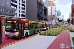 SCSM 2017: Buses stuck along Bencoolen Street