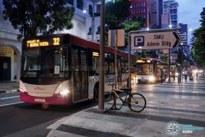 SCSM 2017: Buses stuck along Queen Street near Bras Basah