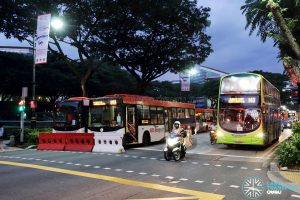 SCSM 2017: Buses stuck along Bras Basah Road awaiting road reopening