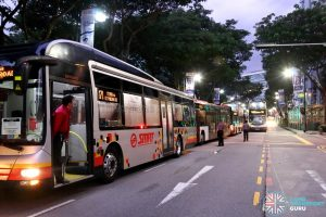 SCSM 2017: Buses stuck along Bras Basah Road