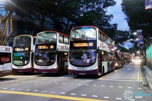 SCSM 2017: Buses stuck along Bras Basah Road (near Waterloo Street)