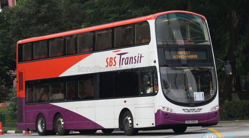 SBS Transit Volvo B9TL Wright (SBS3819L) - Shuttle 7