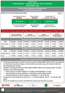Shuttle 8 (Tanah Merah - Changi Airport) Departure Timings from Stations