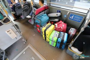 Wheelchair Bay converted to Luggage Area on Express 12