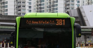 Gong Xi Fa Cai display on Bus 381
